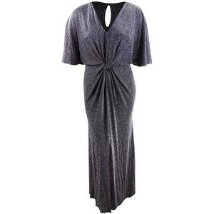 Betsy & Adam Metallic Evening Gown Dress 2 NEW